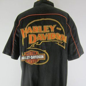 New Harley Davidson XL Black Embroidered Shirt NWT